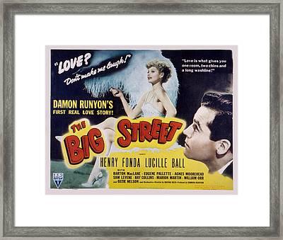 The Big Street, Lucille Ball, Henry Framed Print by Everett