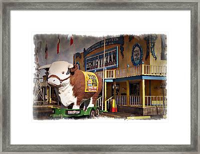 The Big Texan - Impressions Framed Print by Ricky Barnard