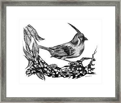 The Black Bird Framed Print by Mario Perez