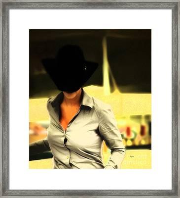 The Black Hat Framed Print by Steven  Digman