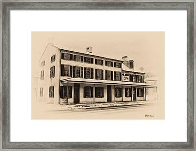The Black Horse Inn - Flourtown Pa Framed Print by Bill Cannon