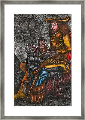 The Black Knight Thanks The Beast For Saving Him Framed Print by Al Goldfarb