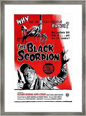 The Black Scorpion, Bottom Richard Framed Print by Everett