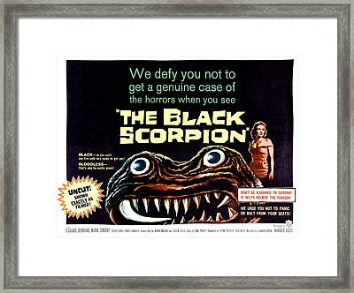 The Black Scorpion, On Right Mara Framed Print by Everett