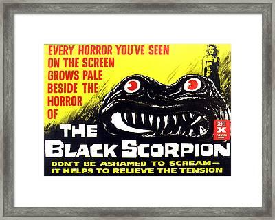 The Black Scorpion, Top Right Mara Framed Print by Everett