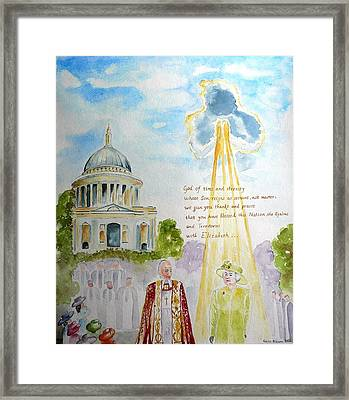 The Blessed Queen Framed Print by Geeta Biswas