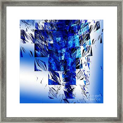 The Blue Chandelier Framed Print by Andee Design