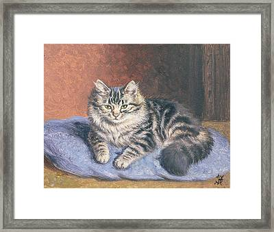 The Blue Cushion Framed Print by Horatio Henry Couldery