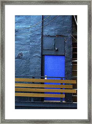 The Blue Door Framed Print by Terry Finegan