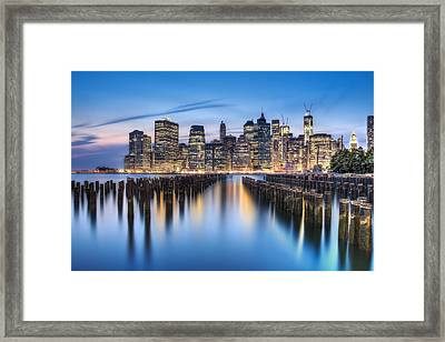 The Blue Hour Framed Print by Evelina Kremsdorf