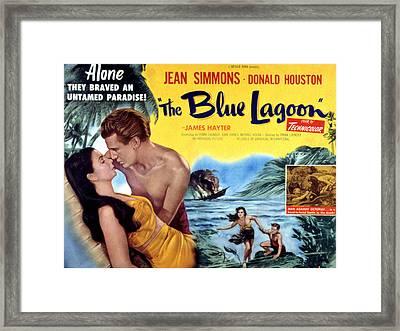 The Blue Lagoon, Jean Simmons, Donald Framed Print by Everett