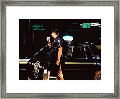 The Blue Line Framed Print by Robert Ponzoni
