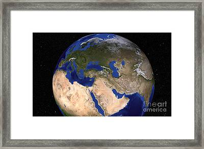 The Blue Marble Next Generation Earth Framed Print by Stocktrek Images