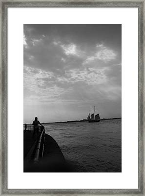 The Boat Framed Print by Nina Mirhabibi