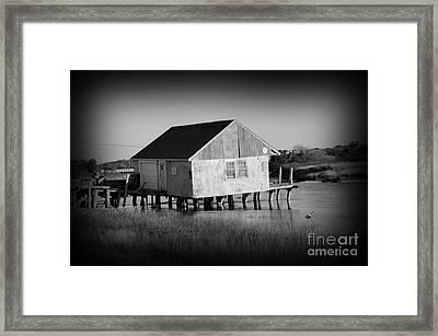 The Boathouse Framed Print by Luke Moore