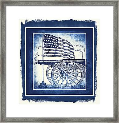 The Bombs Bursting In Air Blue Framed Print by Angelina Vick