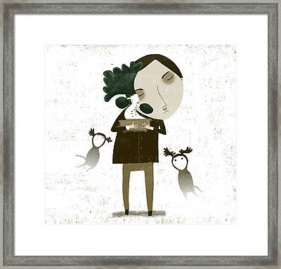 The Bonsai Pruner Framed Print by Luciano Lozano