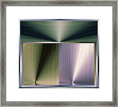 The Border And Beyond Framed Print by Geoff Simmonds