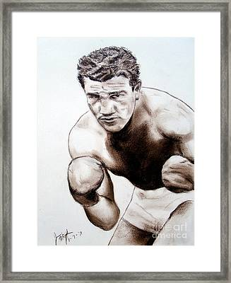 The Boxer Framed Print by Jim Fitzpatrick