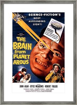 The Brain From Planet Arous, Center Framed Print by Everett