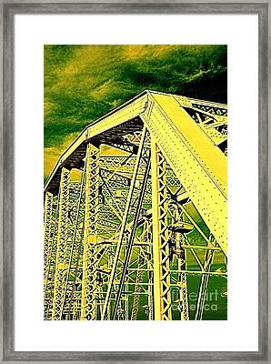The Bridge To The Skies Framed Print by Susanne Van Hulst