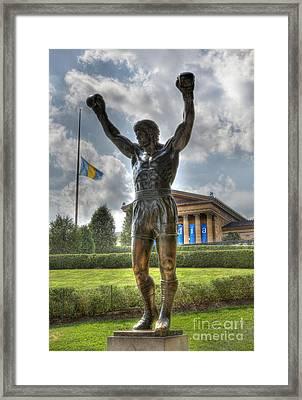 The Bronze Stallion - Rocky Balboa - Philadelphia - Pennsylvania - Rocky Steps Framed Print by Lee Dos Santos