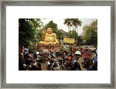 The Buddha In Chiang Rai Framed Print by Shaun Higson