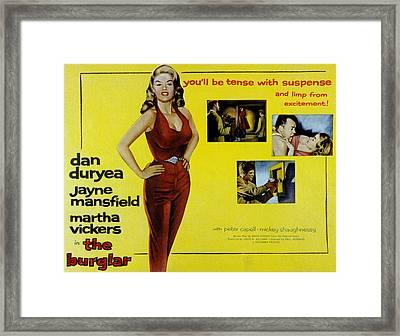The Burglar, Jayne Mansfield, Dan Framed Print by Everett