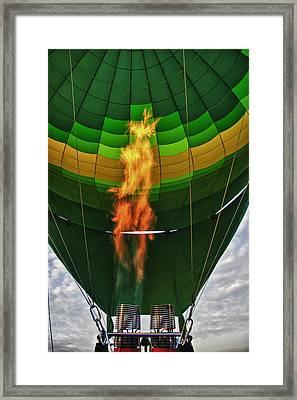 The Burner Framed Print by Zoe Ferrie