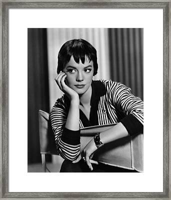 The Burning Hills, Natalie Wood, 1956 Framed Print by Everett