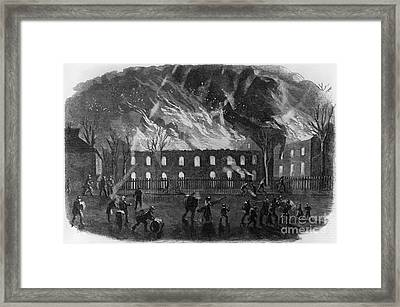 The Burning Of The U.s. Arsenal Framed Print by Photo Researchers