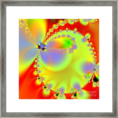 The Butterfly Effect . Summer . Square Framed Print by Wingsdomain Art and Photography