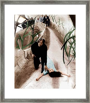 The Cabinet Of Dr. Caligari, From Left Framed Print by Everett