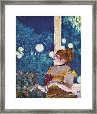 The Cafe Concert Framed Print by Pg Reproductions
