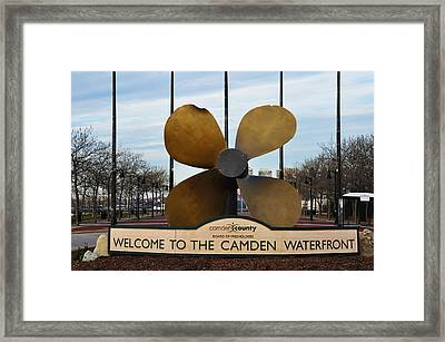 The Camden Waterfront Framed Print by Bill Cannon