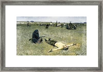 The Captive Framed Print by Henry Francois Farny