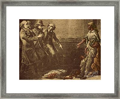 The Capture Of Margaret Garner Framed Print by Photo Researchers