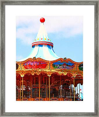 The Carousel At Pier 39 San Francisco California . 7d14342 Framed Print by Wingsdomain Art and Photography