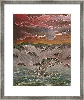 The Catch Framed Print by Shadrach Ensor