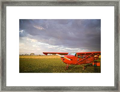 The Cessna Makes A Pit Stop To Refuel Framed Print by Michael Fay