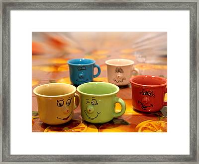 The Cheerful Cups Framed Print by Alessandro Della Pietra