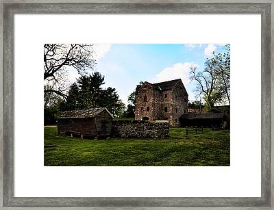 The Chicken Coop And The Barn Framed Print by Bill Cannon