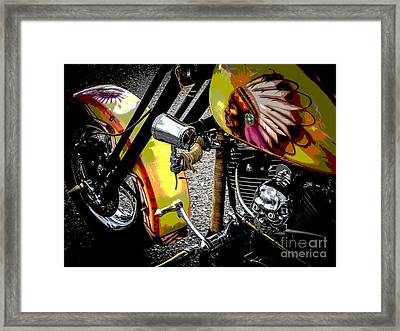 The Chief Rides Framed Print by Chuck Re