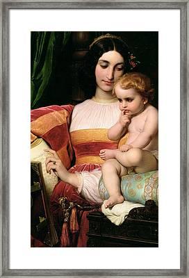 The Childhood Of Pico Della Mirandola Framed Print by Hippolyte Delaroche