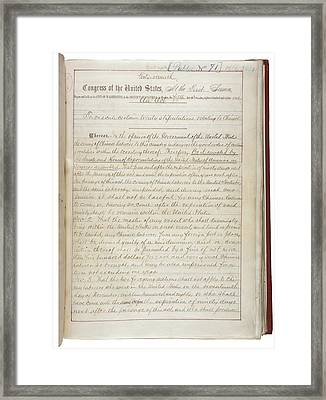 The Chinese Exclusion Act Was Approved Framed Print by Everett