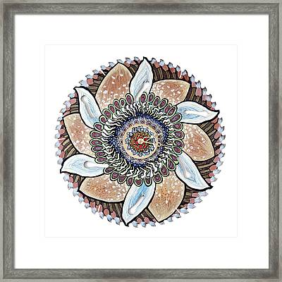 The Chris-can-themum Wall Clock Framed Print by Jessica Sornson