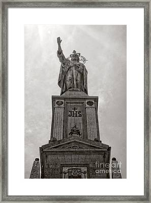 The Christking Monument Framed Print by Angela Doelling AD DESIGN Photo and PhotoArt