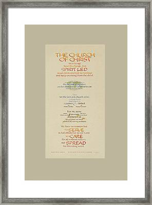 The Church Of Christ In Every Age II Framed Print by Judy Dodds