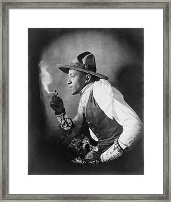 The Cigarette, American Dakota Indian Framed Print by Everett