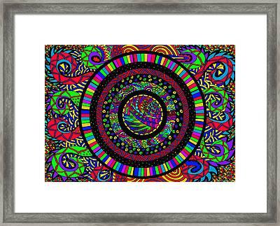 The Circle Framed Print by Karen Elzinga